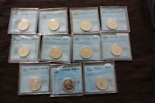 CANADA 25 CENTS 1970 1971 1973 1985 1988 1991 , CERTIFIED CCCS