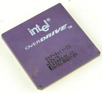1989 INTEL Overdrive sz675 odp486sx-20 CPU Chip *LOOK* vintage