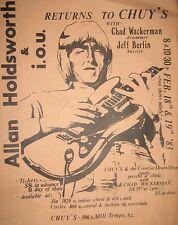 ALLAN HOLDSWORTH POSTER HANDBILL Jeff Berlin Chad Wackerman THE UK Chuy's 1983