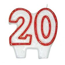 20th Birthday Candle Cake Decoration Glitter Topper ~ Party Celebration Candles