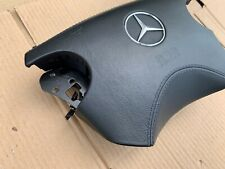 MERCEDES E CLK Class W208 W210 LEATHER STITCHED STEERING WHEEL AIRBAG BLACK AMG