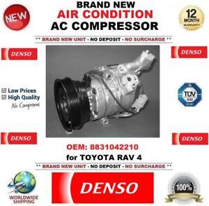 DENSO AIR CONDITION AC COMPRESSOR EO: 8831042210 for TOYOTA RAV 4 BRAND NEW UNIT