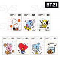 BTS BT21 Official Authentic Goods Clear Deco Sticker 7SET by Kumhong +Tracking #