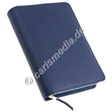 DIE BIBEL: SCHLACHTER 2000 in BIBELHÜLLE Leder - dkl-blau - Standardausgabe °CM°