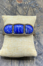 Barse Triple Threat Cuff Bracelet- Lapis & Bronze- New With Tags