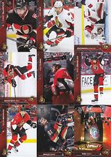 2015-16 Upper Deck Ottawa Senators Complete Series 1 & 2 Team Set 13 Cards