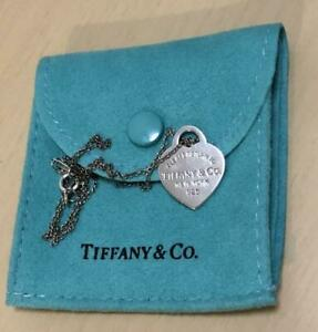 Tiffany & Co. Sterling Silver 925 Return to Heart Tag Necklace Pendants Gift / 3