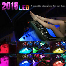 Glow Full Color RGB LED Inter Car Kit Under Dash Foot Well Seats Inside Lighting
