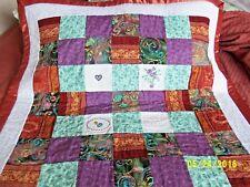 Baby Boy or Girl Blanket, Crib Quilt, Kids Bedding, Toddler Blanket, 40