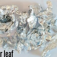 Nail glitter SILVER LEAF 1G in a 3ml bag For acrylic or gel