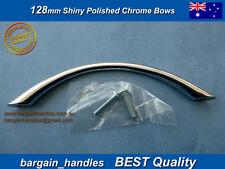 Kitchen Cabinet Bathroom Cupboard Wardrobe 20x128mm Shiny Chrome Bow Handle