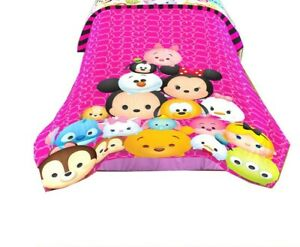 "New Disney Tsum Tsum Twin/Full Comforter for Kids - 72"" x 86"""