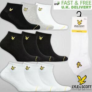 Lyle & Scott Mens Ankle Socks 3 Pack Sports Trainer Socks 7-11 UK