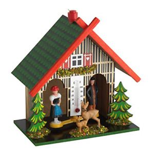 TFA Dostmann 48.1501 Wooden Weather House - Made in Germany - Weather House with
