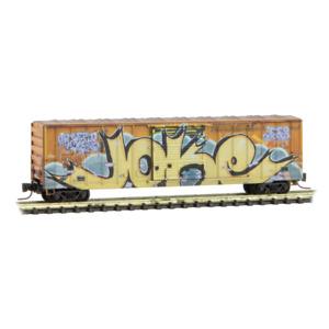 Z Scale - MICRO-TRAINS 510 45 013 RAILBOX 50' Box Car w/ JOKE Day Graffiti