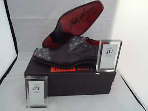 JEFFERY WEST Necro Alien Skulls Shoes 🌍 Size 8.5 🌎 RRP £395+ 🌏 UK FREEPOST