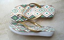 HAVAIANAS infradito 41 42 scarpe donna sandali oro zeppa NEW outlet ciabatte