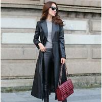 Winter/Fall Womens Leather Jacket Parka Outwear Lady Trench Coat Overcoat Korean