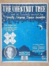 Vintage sheet music-le Châtaignier-Nouveauté Singing Dance Sensation