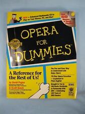 Opera For Dummies Reference Music Guide Book Without CD David Pogue S Speck (O)
