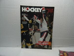 HOCKEY MAGAZINE  - JANUARY 1978 - PHIL ESPOSITO SHOOTS FOR THE RECORD ON COVER