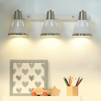 HOMCOM Industrial Sconce 3 Lights Wall Lamp Spotlight E27 Socket White