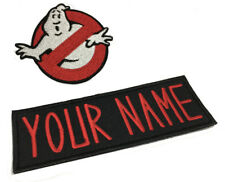 Custom Ghostbusters NAME Tag & No Ghost Logo Iron on PATCH Halloween Costume