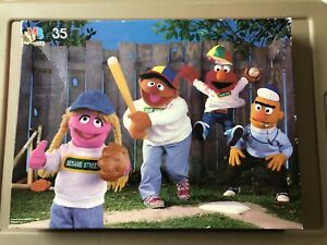 """Sesame Street Floor Puzzle 17""""x22"""" Used But Pieces Are In Excellent Condition"""