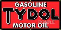 SUN RAE GAS STATION GASOLINE MOTOR OIL NEON STYLE BANNER SIGN REMAKE ART 4/' X 3/'