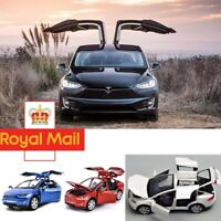 Tesla Model X 90d Suv 1:32 Diecast Model Car Sound&Light Pull Back Cars Toy - FR