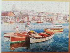 """Vintage Victory Artistic Wooden Jigsaw Puzzle """"Collecting Boats"""" 350 pieces"""