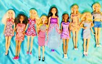 """FASHIONISTA BARBIE - Mixed Lot of 9 - Fully Dressed - Mattel Loose 11.5"""" Dolls"""