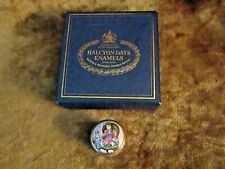 Halcyon Days Victorian Doll & Dog Sitting on Chair/Screw On Lid/Original Box