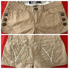 TILT ... Embroidered  Beige  100%  Cotton  Shorty  Shorts ... Size  3