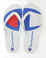 Champion Life Flip Flops Split C Logo Sandals Men's Script 2 Color White Blue