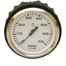 Faria Boat Outboard Tachometer Gauge TCC007A | Euro Stainless 3 1/4 Inch