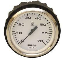 Faria Boat Euro Tachometer Gauge TCC007A | 7000 RPM White / Black