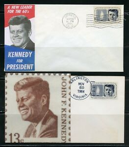 UNITED STATES 1964 JOHN F. KENNEDY 18 DIFFERENT CACHETED FIRST DAY COVERS