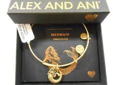Alex and Ani Mermaid II Bangle Bracelet Rafaelian Gold NWTBC