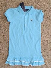 Ralph Lauren Girls Aqua Blue Dress - Size 4 - Nwt