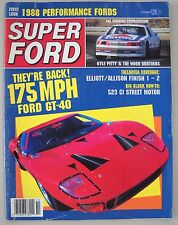 Super Ford October 1987 GT-40 Saleen Mustang Fairmont XR-7 CJ-R Cougar 39 Coupe
