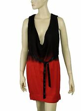 152930 New Diesel Tie & Dye Printed V Neck Sleeveless Tunic Dress XS