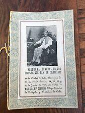 More details for 1909 programa general de los - mgr juan p. gorordo card & program