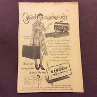 Advertisement - Singer Sewing Centres - British - 1953