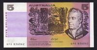 Australia R-213L. (1991) 5 Dollars. Fraser/Cole. Last Prefix QPG. UNC