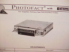 1975 KRACO 8-TRACK STEREO TAPE PLAYER/AM-FM-MPLX RADIO SERVICE MANUAL KID-560A