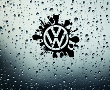 VW SPLAT golf~beetle CAR / VAN  vinyl sticker decals ~ window ~ door ~ camper