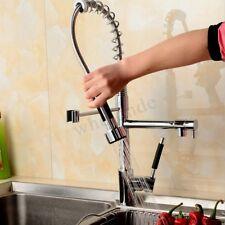 Chrome Estraibile Spray Girevole Miscelatore Rubinetto Cucina Bacino Lavello
