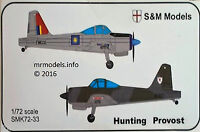 S&M Models 1/72 Hunting Provost Aircraft Military Plane New Plastic Model Kit