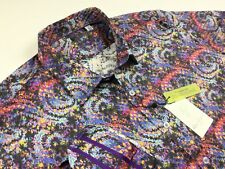 Robert Graham Men Classic Fit Button Front Graphic Shirt 2XL